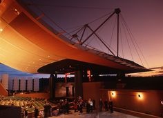Santa Fe opera - one of the most beautiful places to see a performance in an open air theater against the desert sky.