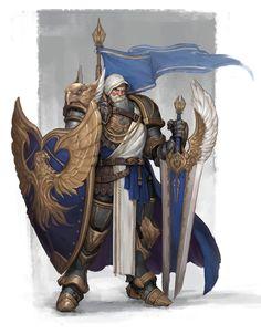 Oldman_knight, by Hyuckjune Jeon on ArtStation : ImaginaryCharacters Fantasy Character Design, Character Design Inspiration, Character Concept, Character Art, Fantasy Armor, Medieval Fantasy, Dnd Characters, Fantasy Characters, Armor Concept