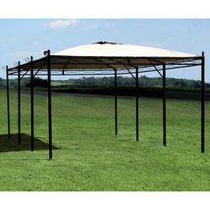 Gazebo tent pergola canopy canvas garden shelter barbecue gazebo timber framed jpg - Pergola met intrekbaar canvas ...