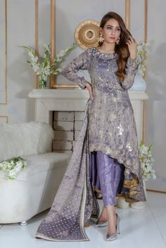 Kindly Read Detail Description on our Website. You can Also purchase this Outfit online from our website www. Pakistani Frocks, Pakistani Party Wear Dresses, Designer Party Wear Dresses, Pakistani Dress Design, Pakistani Designers, Pakistani Outfits, Pakistani Shadi, Indian Dresses, Indian Outfits