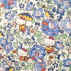 hello kitty x liberty art fabric - season 3 - felicite - fat quarter - blue - -- claradeparis.com ♥