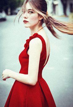 robe rouge #zalando #kissmylook