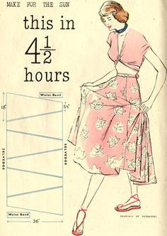 The Vintage Pattern Files: 1940's Sewing - Quick & Easy Summer Wardrobe Patterns with little wasted fabric