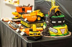 Dessert table at a construction birthday party! See more party planning ideas at CatchMyParty.com!