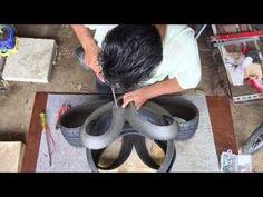Tutorial parte (3) como fazer um vaso ornamental com um pneu velho! - YouTube