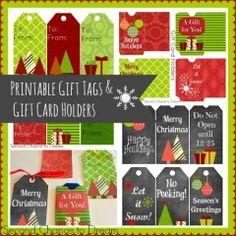 Printable Gift tags & Gift Card Holders ishareprintables.com