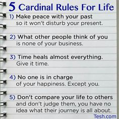 #2 & #5 right on the money...the rest are also valid, but for self happiness 2 & 5!!!