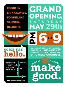 Nice layout for a grand opening flyer