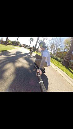 try this it's fun as #germanshepherd #gopro #skateboarding