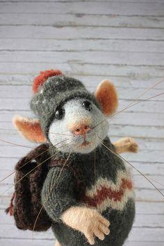 Needle Felted Animals, Felt Animals, Needle Felting, Cute Animals, Felt Fairy, Baby Fairy, Felt Gifts, Felt Mouse, Animal Decor