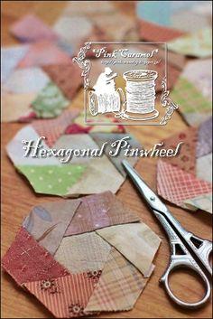Pink Caramel: Hexagonal Pinwheel 1