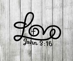 Love John 3:16 Decal,Sticker by PRCdecals on Etsy https://www.etsy.com/listing/185649652/love-john-316-decalsticker