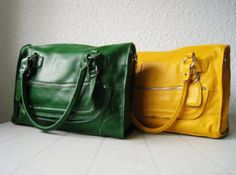 Leather satchels from Adeleshop on etsy. Ooooh....