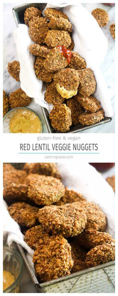 These Red Lentil Veggie Nuggets are a healthy recipe that the whole family will love! These tasty bites sneak in protein and several servings of vegetables!