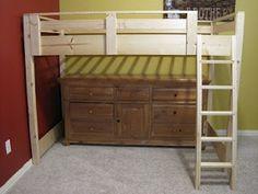 loft bed design (stained darker)