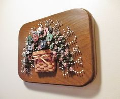 Pol O Craft Nails In Bloom Nail Flower Art Fall Colors Floral Bouquet On Dark Wood Base