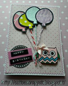 Birthday card - I could use my owl punch for this card