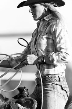 Role model for all the little cowgirls learning out there.