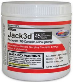 USP Labs, Jack3d basically supports enhancement of energy level in the body with the help of caffeine, creatine and beta alanine.