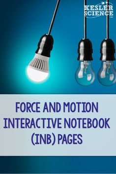 Force and Motion interactive notebook pages for your middle school science students studying physics. Reinforce vocabulary words including speed, velocity, and acceleration with graphing problems. Activity pages for Newton's Laws with practice problems an 8th Grade Science, Science Student, Teaching Science, Science Activities, Science Resources, Science Fun, Physical Science, Science Classroom, Earth Science