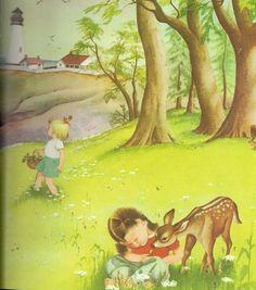 illustrations de eloise wilkin - Page 9 Prayers For Children, Little Golden Books, Vintage Books, Vintage Clip, Cute Images, Childrens Books, Art For Kids, Book Art, Artwork