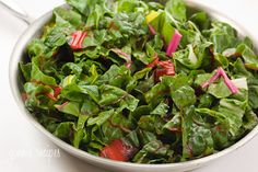 Rainbow Swiss Chard - I love all leafy greens and Swiss chard is no exception.