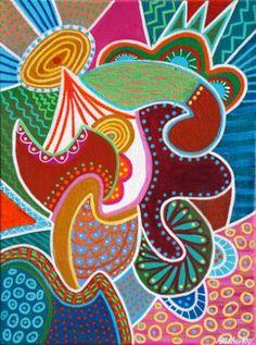 "Saatchi Art Artist Angela Sharkey; Painting, ""Rejoice"" #art"