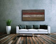 Reclaimed palleted floor incorporates nicely with the #reclaimed wood wall art