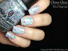 Fashion Polish: China Glaze Cirque du Soleil Worlds Away Part II : the shimmers & glitters