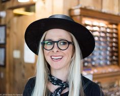 Here's another hit from VINYLIZE! Amber looks so sweet you'd never guess that her new specs are made from a pressing of AC/DC's Back in Black. Ac Dc, Back To Black, Specs, Eyewear, Amber, Glasses, Vintage, Fashion, Moda
