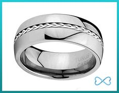 Tungsten Wedding BandsMens RingMens Wedding by InfiniteBands