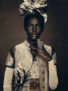 Kiara Kabukuru by Paolo Roversi for Vogue UK