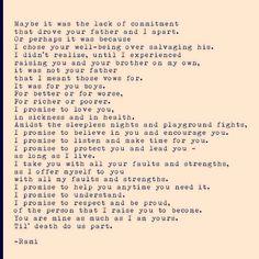 Soul talk - My Vow.   Rami poetry.
