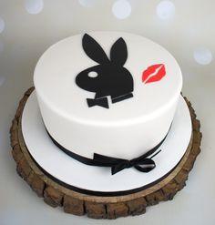 Simple Playboy logo cake