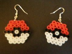 Pokeball Perler Bead Earrings