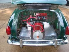 Clean electric motor into a Karmann Ghia Electric Car Engine, Diy Electric Car, Electric Power, Electric Truck, Vw Bus, Electric Car Conversion, E Motor, Sustainable Energy, Diy Car