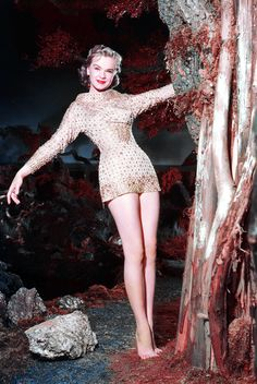 Anne Francis in 'Forbidden Planet', 1956 Vintage Hollywood, Hollywood Glamour, Classic Hollywood, Hollywood Stars, Hollywood Actresses, Classic Movie Stars, Classic Movies, Science Fiction, Sf Movies