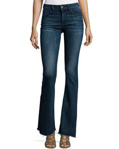 High waist flare jeans h&m
