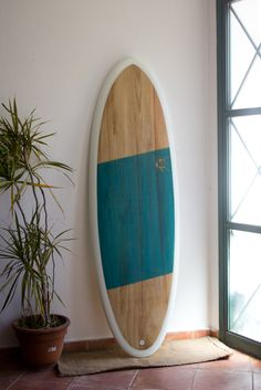 5'8'' little wooden deck thruster eggy by settembre*surf