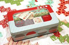 Frivols Collectible Tins by Moda Fabrics  No.1 Bonnie and Camille's Hello Darling.