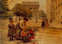 """signed and dated """"Louis De Schryver/95"""" lower right, signed Louis de Schryver and inscribed """"L'Arc de Triomphe"""" on the reverse- -oil on canvas 13 3/4 x 9 7/8 in. (35 x 25 cm.) PROVENANCE Possibly Galerie Tedesco, Paris Louis Marie de Schryver exhibited his first painting at the age of thirteen in the Salon de Champs-Elysees. It was the beginning of what was to mark a long and distinguished career as an artist. As a member of the privileged upper class, de Schryver was fascinated by the…"""