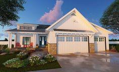 3 Bed Cottage Ranch Home Plan - 62568DJ | 1st Floor Master Suite, Butler Walk-in Pantry, CAD Available, Craftsman, Northwest, PDF, Ranch, Split Bedrooms | Architectural Designs
