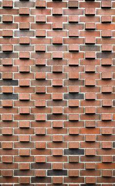 Brick design on Sweeny Hall in Ames, IA - photo by Cort Widlowski / oneadayarchitecture blog