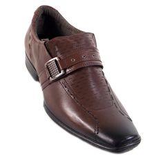 Sapato Pegada Casual Masculino Detalhe Pespontos Fivela Social Mestiço Telha  Homens sofisticados encontram o que procuram na LojaPasso a Passo Online. O Sapato Pegada Casual Masculino Detalhe