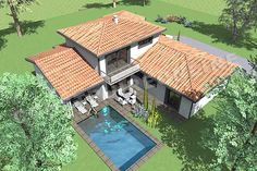 plan de maison moderne etage LISBON 3