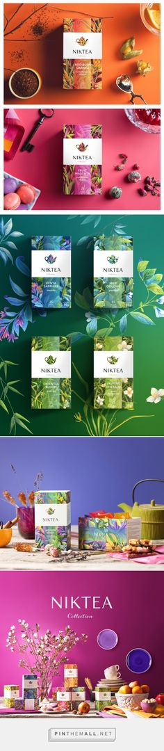 Niktea - gourmet tea brand… lovely and beautifully designed packaging Graphisches Design, Buch Design, Label Design, Branding Design, Logo Design, Package Design, Studio Design, Cool Packaging, Tea Packaging