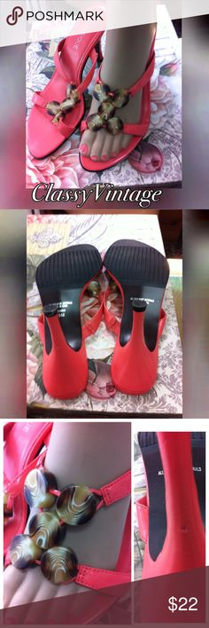 Light coral slides Light coral in color and all man made materials. 4 inch heels .strap has an elastic section for a great fit. Gently worn. One mark on back of right heel. Shown in pic. These are lighter in color than pic classique Shoes