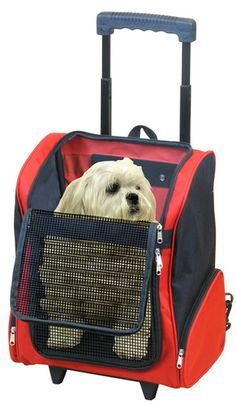 5b4bc37b043d PawHut Pet Travel Backpack Bag Cat Puppy Dog Carrier w  Trolley and ...