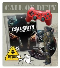 Playstation PS3 games by Sony - Call of Duty, Black Ops - MadDogLeo.com