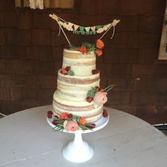 Naked Wedding Cake by a Bakeshop!